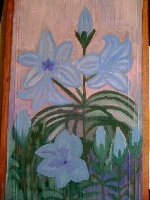 tablou cu crini bleu