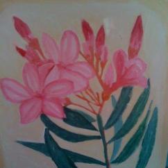 tablou cu leandru roz
