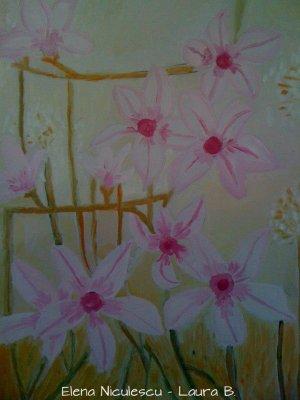 tablou cu magnolii stelate