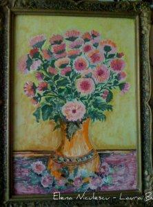 tablou crizanteme roz 2012