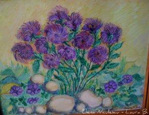 tablou crizanteme si flori mov 2011