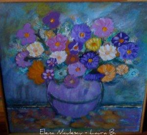 tablou flori de Sf maria