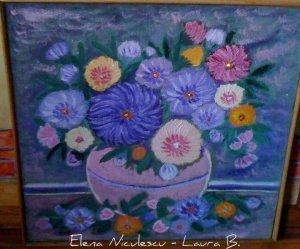 tablou flori de toamna in vaza roz 2012