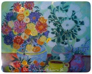 tablou flori de toamna pe panza 2012