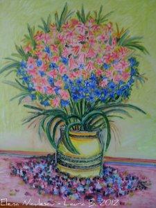 tablou cu zambile