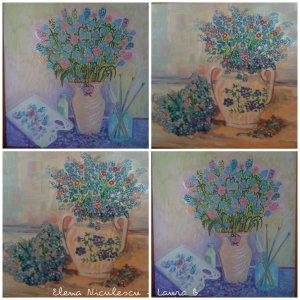 collage cu flori de nu ma uita 13 iunie
